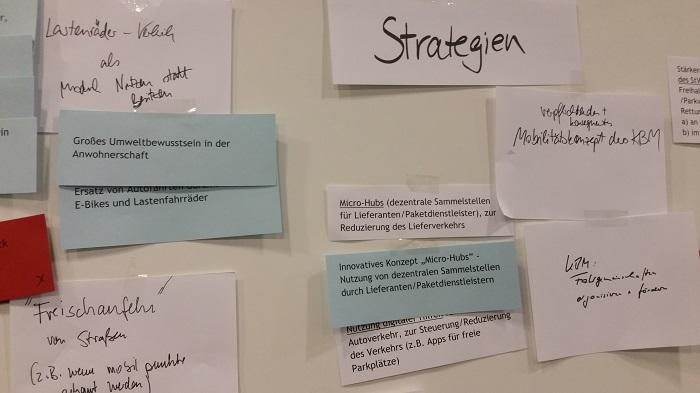 Die Teilnehmer formulierten viele Vorschläge für die Straßen und den Verkehr im Stadtteil.